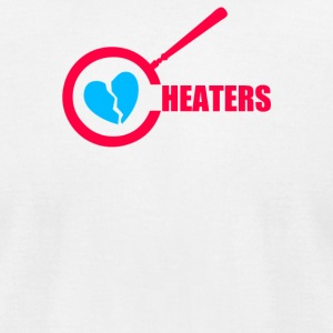 Cheaters Humor - Men's T-Shirt by American Apparel
