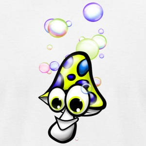 mushroom with soap bubbles - Men's T-Shirt by American Apparel