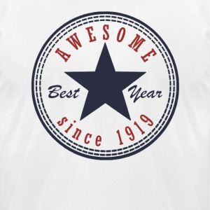 98th Birthday Awesome since T Shirt Made in 1919 - Men's T-Shirt by American Apparel