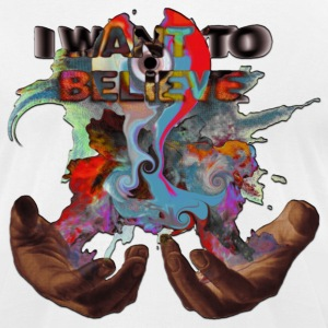 I WANT TO BELIEVE MAGIC SMOKE IN HANDS W/ MELT CD - Men's T-Shirt by American Apparel