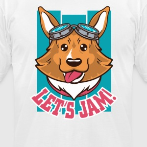 Dog Jam - Men's T-Shirt by American Apparel