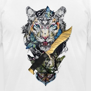 Bowie Tiger Tooth - Men's T-Shirt by American Apparel