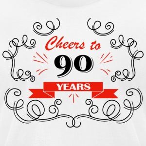 Cheers to 90 years - Men's T-Shirt by American Apparel