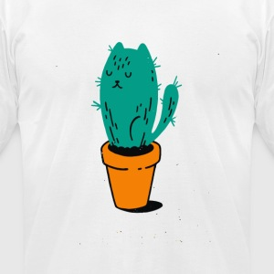 Plant Cat tus Cyber System - Men's T-Shirt by American Apparel
