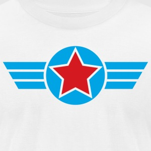 Winged Star - Men's T-Shirt by American Apparel