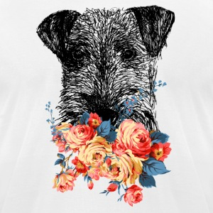 Airedale Terrier Tee Shirt - Men's T-Shirt by American Apparel