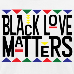 Black Love Matters - Men's T-Shirt by American Apparel