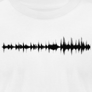 Sound wave - Men's T-Shirt by American Apparel