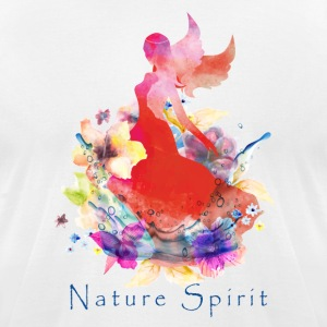 Nature Spirit- red - Men's T-Shirt by American Apparel