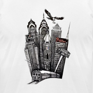 Philadelphia (philly) - Men's T-Shirt by American Apparel