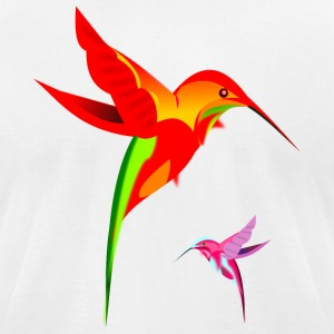 Colorful Hummingbirds Birds Design - Men's T-Shirt by American Apparel