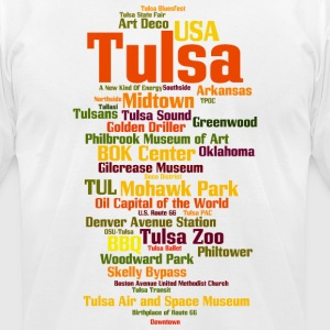 Tulsa (Oklahoma, USA, Oil Capital) - Men's T-Shirt by American Apparel