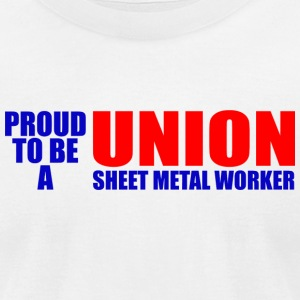 Worker - proud to be a union sweet metal worker - Men's T-Shirt by American Apparel