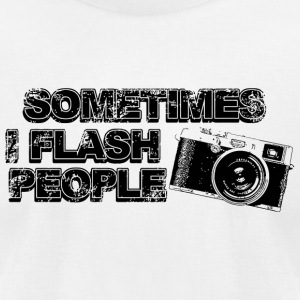 Flash - sometimes i flash people - Men's T-Shirt by American Apparel