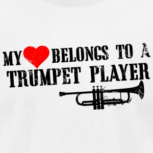 TRUMPET PLAYER - MY LOVES BELONGS TO A TRUMPET P - Men's T-Shirt by American Apparel