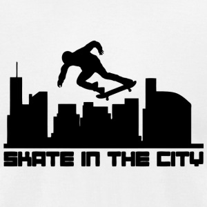 Skate - Skate In The City - Men's T-Shirt by American Apparel