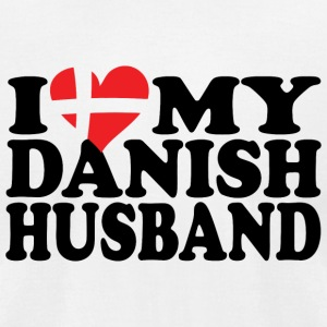 Danish husband - i love my danish husband - Men's T-Shirt by American Apparel