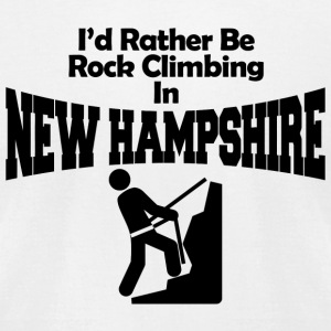 Climbing - i would rather be rock climbing in ne - Men's T-Shirt by American Apparel