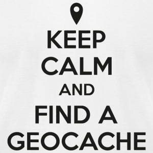 Geocache - Keep calm and find a geocache - Men's T-Shirt by American Apparel