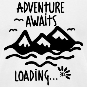 Adventure - Adventure Awaits - Men's T-Shirt by American Apparel