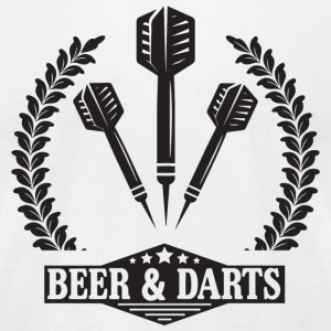 Dart - Beer - Men's T-Shirt by American Apparel