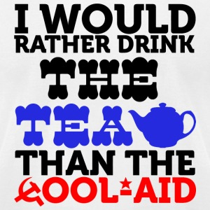 Tea - i would rather drink the tea than the cool - Men's T-Shirt by American Apparel