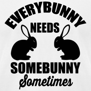 Bunny - Every bunny needs somebunny sometimes - Men's T-Shirt by American Apparel