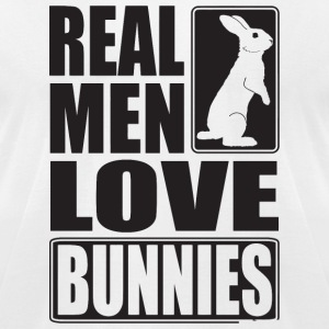 Bunny - Real men love bunnies! - Men's T-Shirt by American Apparel