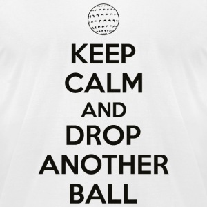 Golf - Keep calm and drop another ball - Men's T-Shirt by American Apparel