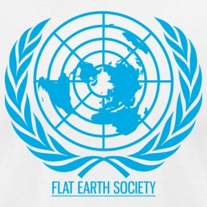 Flat Earth Society - Men's T-Shirt by American Apparel