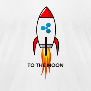 Ripple XRP To The Moon!! - Men's T-Shirt by American Apparel