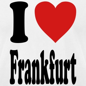 I love Frankfurt (variable colors!) - Men's T-Shirt by American Apparel