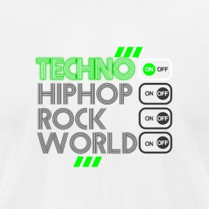 Techno ON - Men's T-Shirt by American Apparel