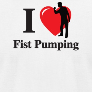 I Love Fist Pumping - Men's T-Shirt by American Apparel