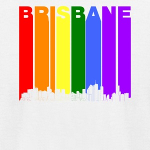 Brisbane Australia Skyline Rainbow LGBT Gay Pride - Men's T-Shirt by American Apparel