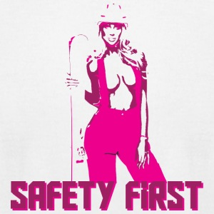 Safety First Pink - Men's T-Shirt by American Apparel