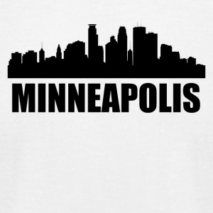 Minneapolis MN Skyline - Men's T-Shirt by American Apparel