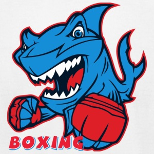 shark boxing - Men's T-Shirt by American Apparel