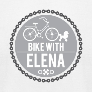 bike with elena - Men's T-Shirt by American Apparel