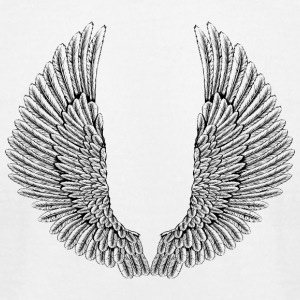 angelic-wings-vector - Men's T-Shirt by American Apparel