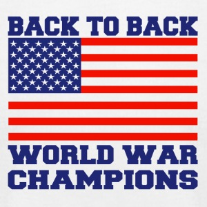 back to back world champions - Men's T-Shirt by American Apparel