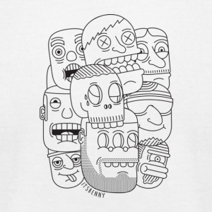 Bunch of faces - Men's T-Shirt by American Apparel