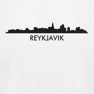 Reykjavik Iceland Skyline - Men's T-Shirt by American Apparel