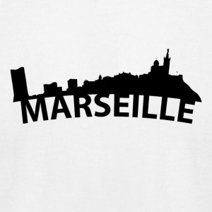 Arc Skyline Of Marseille France - Men's T-Shirt by American Apparel
