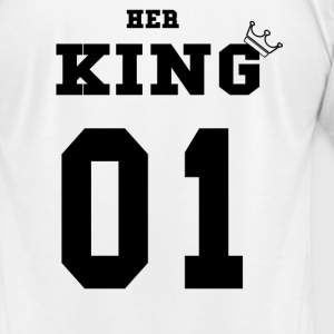 Black Her King - Men's T-Shirt by American Apparel
