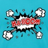 KABOOM, comic speech bubble, cartoon, explosion - Men's Fine Jersey T-Shirt