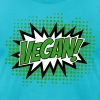 Go Vegan, Comic Book Style - Men's Fine Jersey T-Shirt