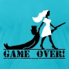 game over bride and groom - Men's Fine Jersey T-Shirt