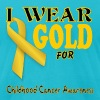Childhood Cancer Awareness  - Men's Fine Jersey T-Shirt