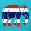 Thai Flag Elephant Crossing Sign - Men's Fine Jersey T-Shirt